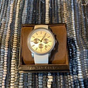 NWT Michael Kors white Ritz Chronograph watch